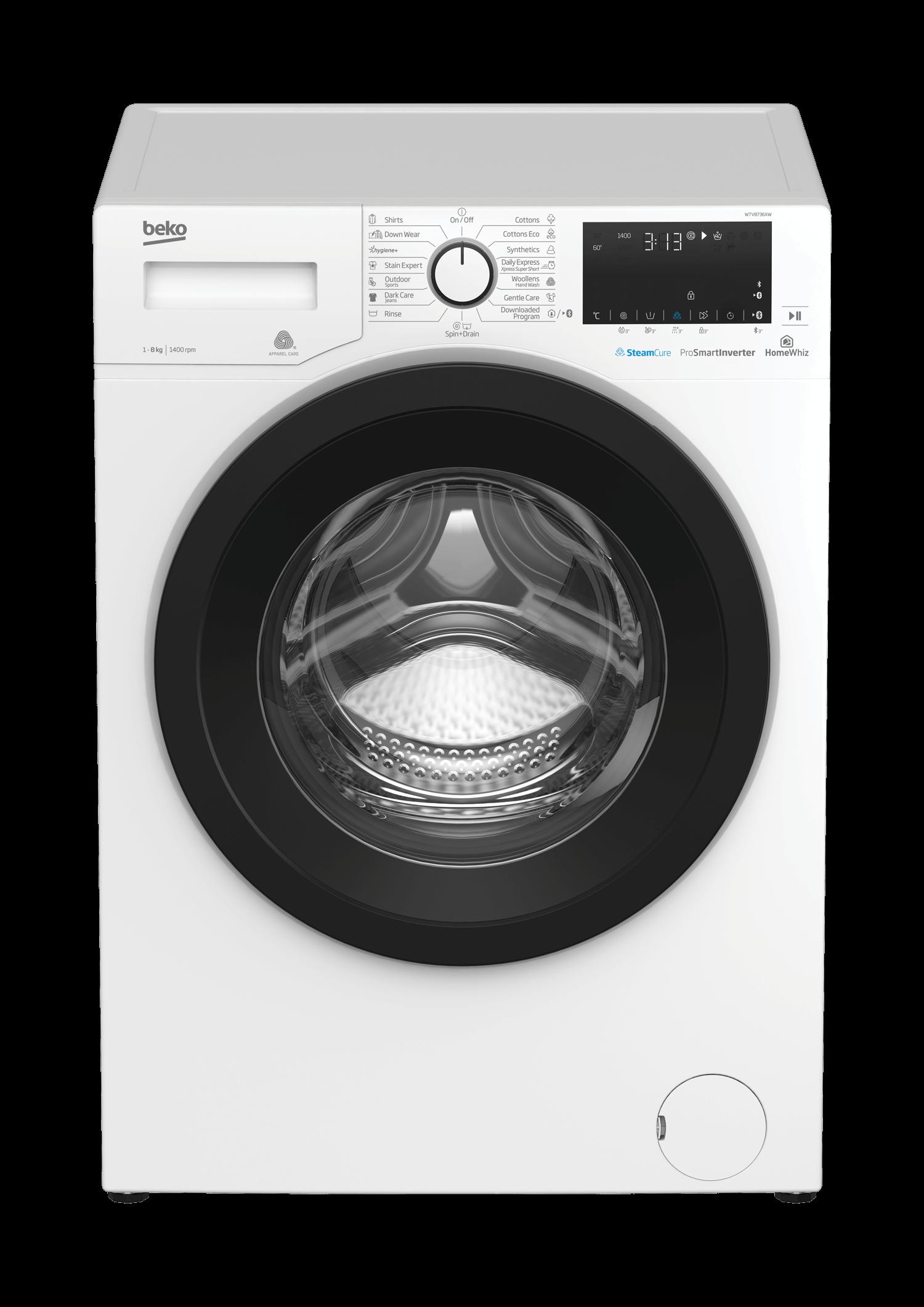 BEKO 8Kg Front Load Washing Machine WTV8736XW