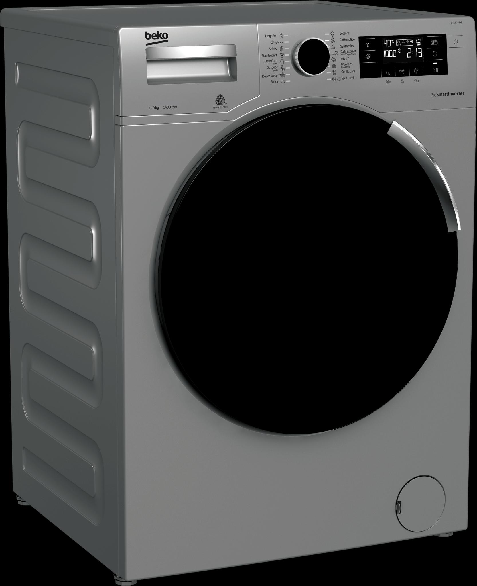 BEKO 9Kg Front Load Washing Machine WTV9734XS