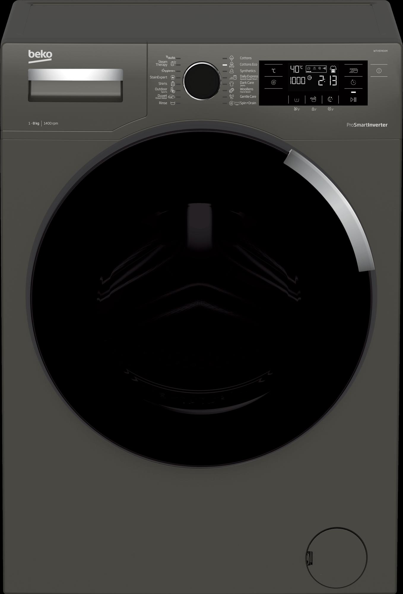 BEKO 9Kg Front Load Washing Machine WTV9745XM
