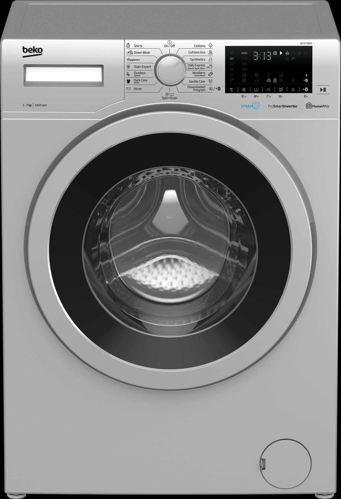 BEKO 7Kg Front Load Washing Machine WTV7736XS