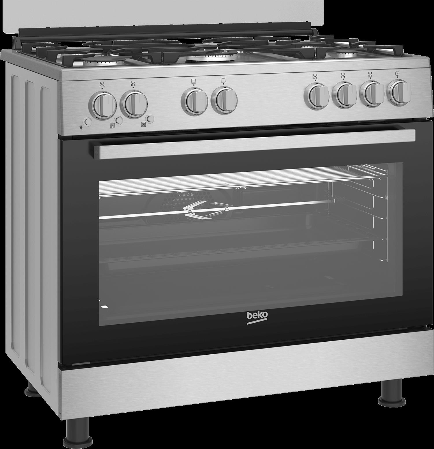 BEKO 90cm Gas Cooker GGR 15125 FX NS