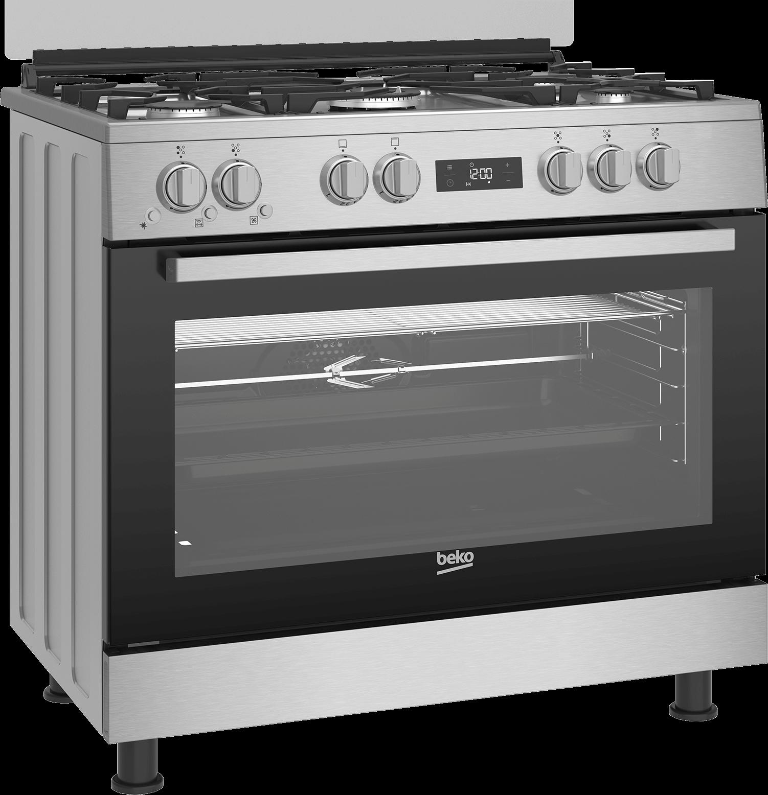 BEKO 90cm Gas Cooker GGR 15325 FX NS