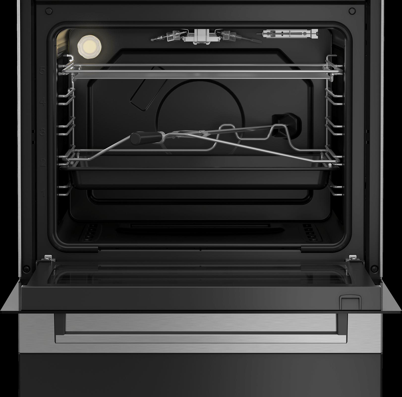 BEKO 60cm Gas Cooker FSGT61121DXL