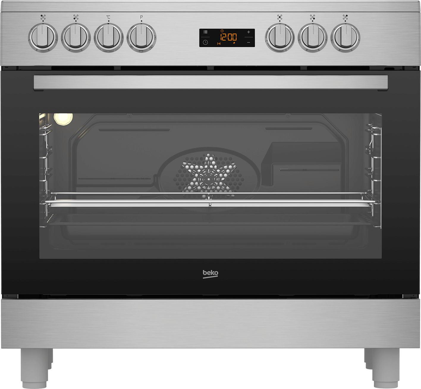 BEKO 90cm Ceramic Electric Cooker GM17300GX