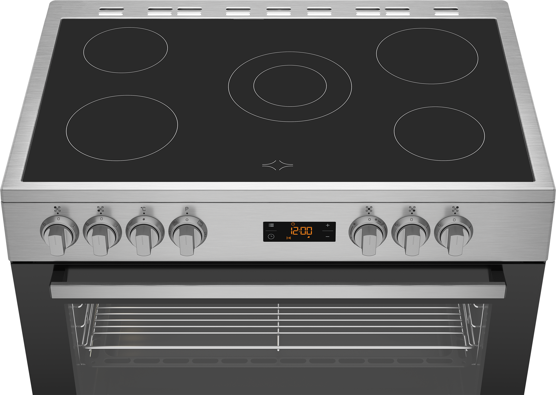BEKO 90cm Ceramic Electric Cooker GM17300GXNS