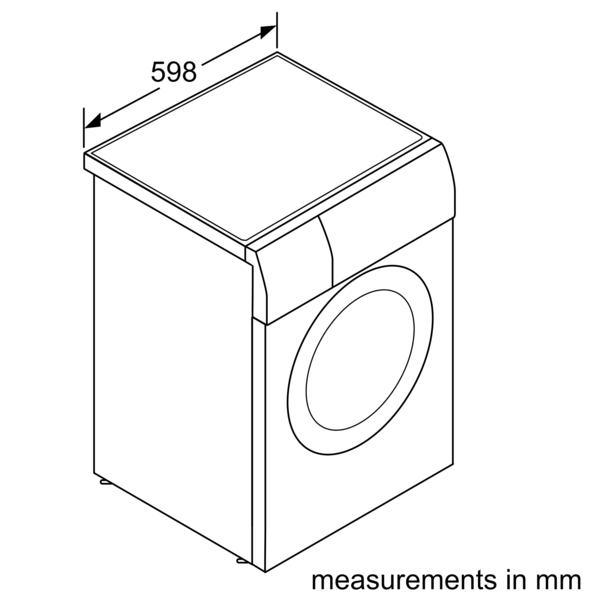 BOSCH 8 Kg Front Load Washer Dryer WVG30460GC