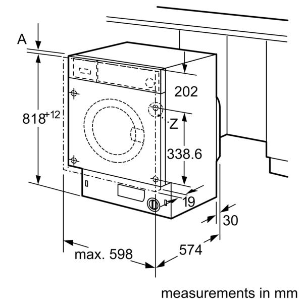BOSCH 8 Kg Fully Integrated Washing Machine WIW24560GC