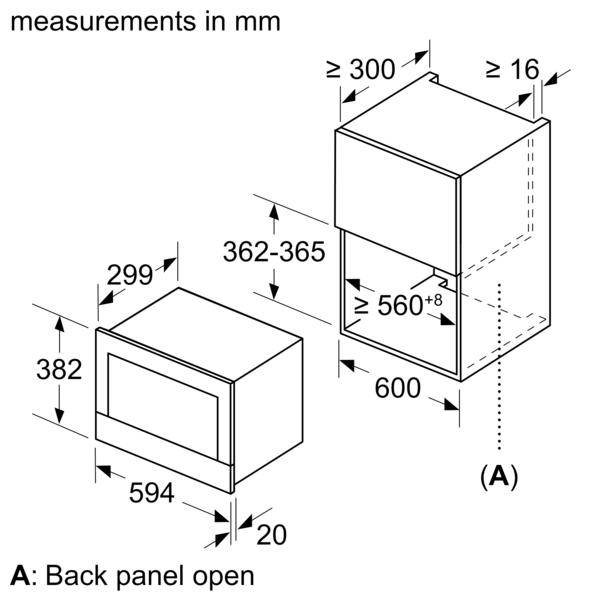 BOSCH 21 Liters Built In Microwave BEL634GS1M