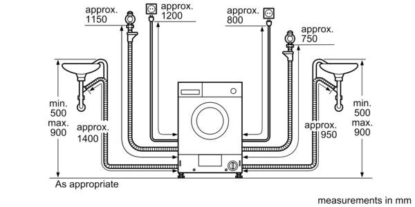 BOSCH 7 Kg Fully Integrated Washing Machine WKD28351GC