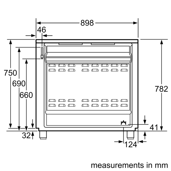 BOSCH 90cm Combination Cooker HSB738357M