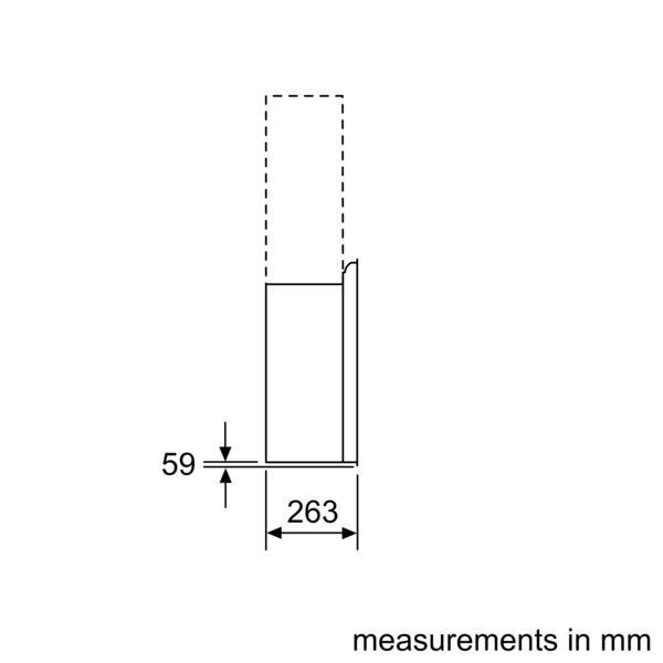 BOSCH 90cm Wall Mounted Cooker Hood DWF97RV60B