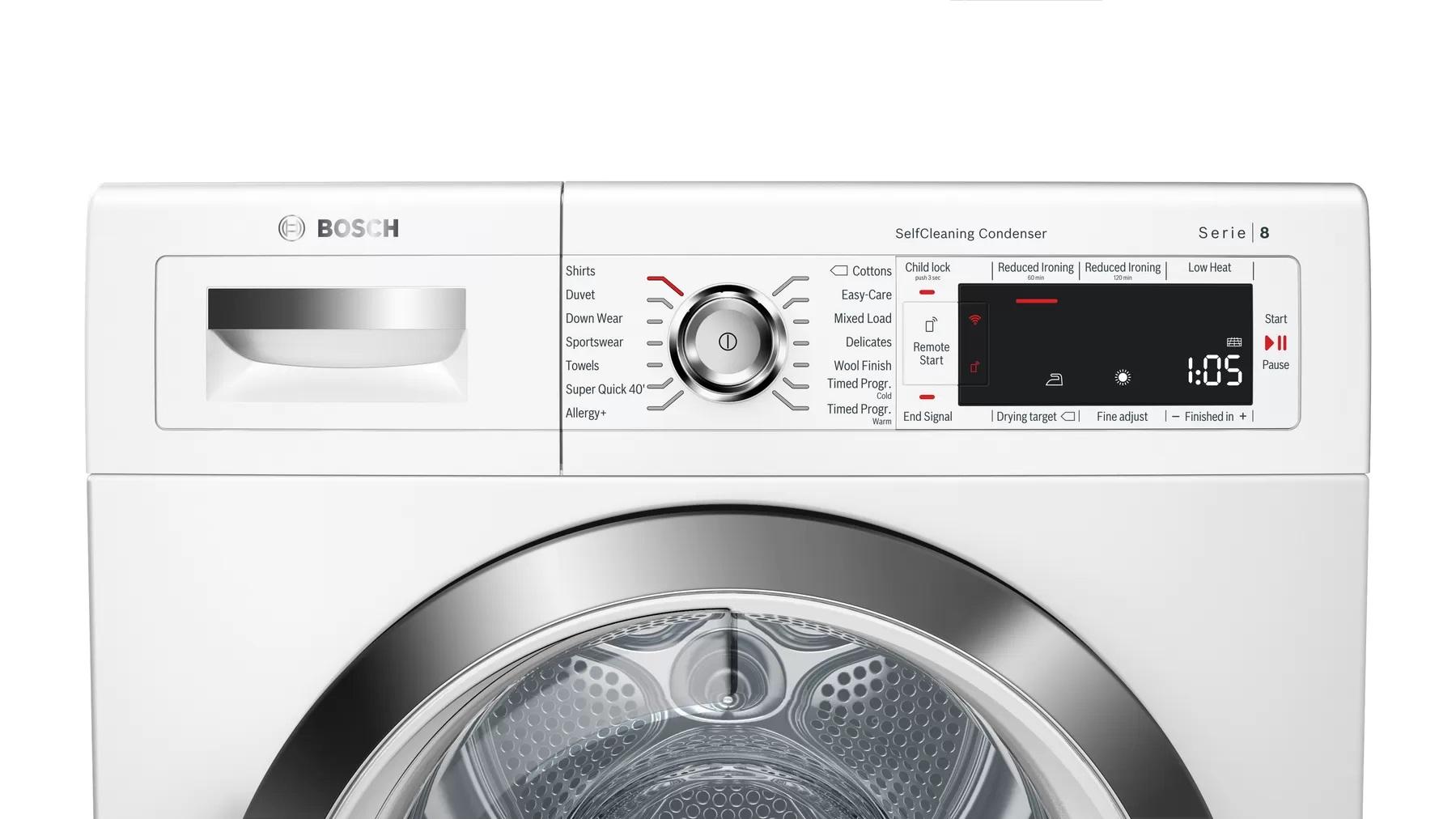 BOSCH 9KG Heat Pump Dryer WTWH7560GC